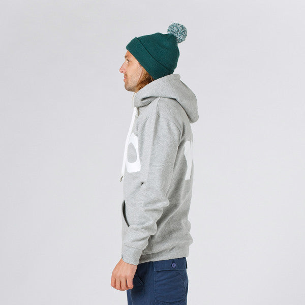 Lower Zip Hood / LO (Grey Marle)