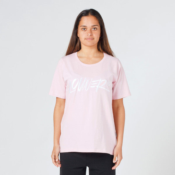 Lower Active Tee / Skitse (Embroidered) - Pink