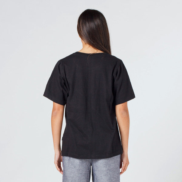 Lower Active Tee - Slash (Embroidered) in Black