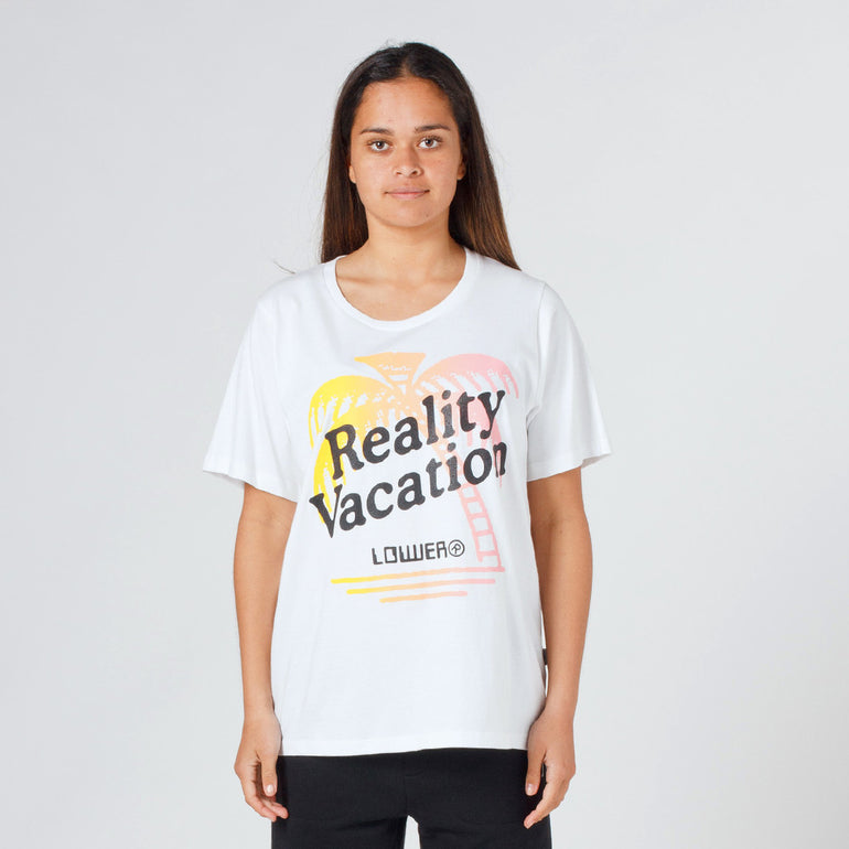 Lower Active Tee / Vacation - White