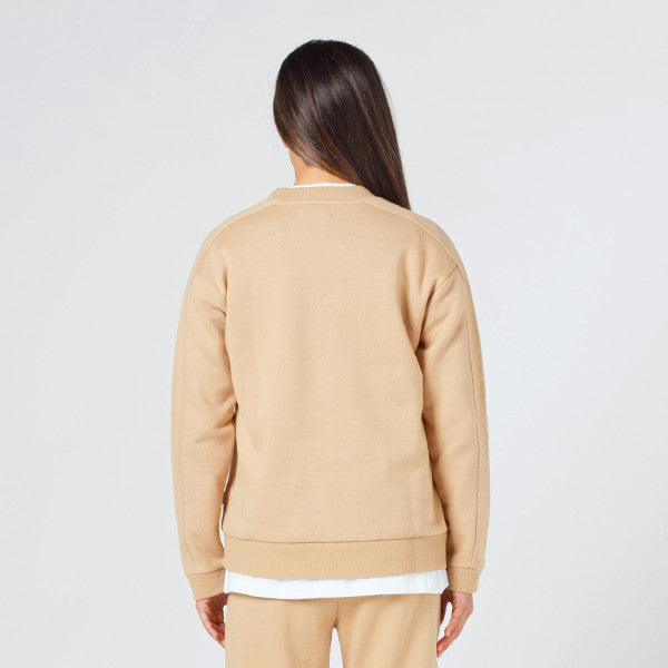 Lower Classic Crew / Sign Embroidered Tan