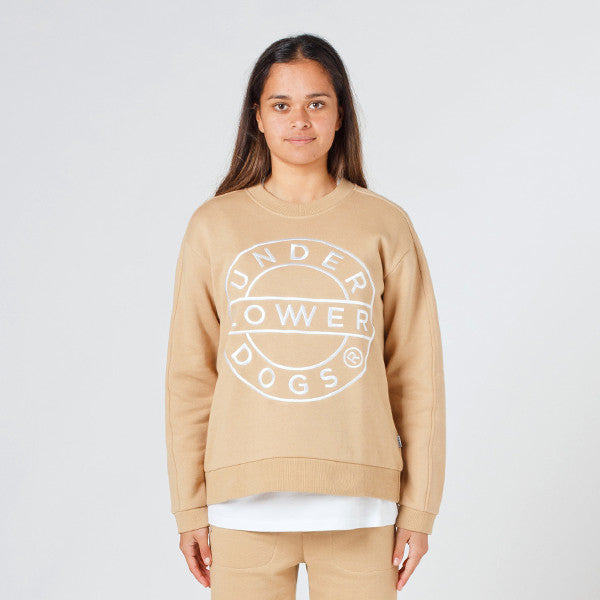 Lower Classic Crew / Sign (Embroidered) - Tan