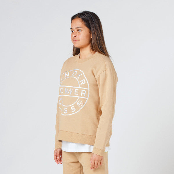 Lower Classic Crew / Sign (Embroidered) in Tan