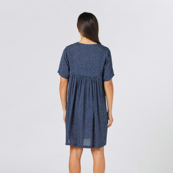 Lower / Claudia Dress - Speckled Navy