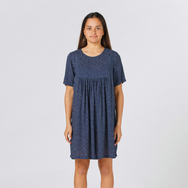 Lower Claudia Dress - Speckled Navy