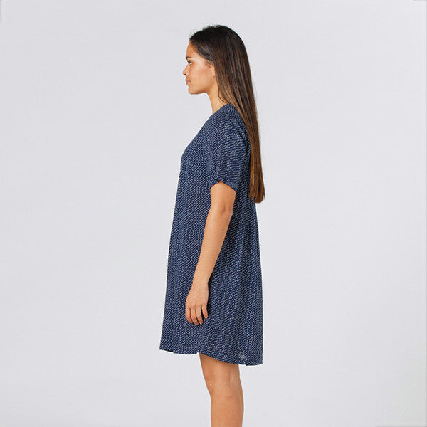 Lower Claudia Dress (Speckled Navy)