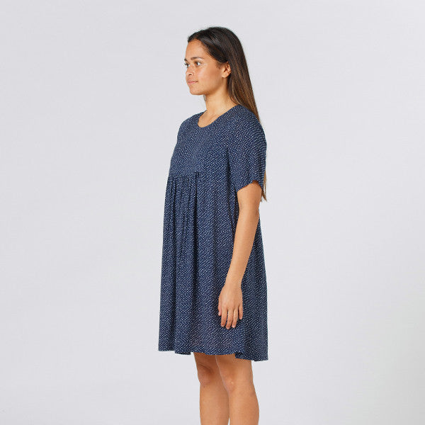 Lower Claudia Dress in Speckled Navy