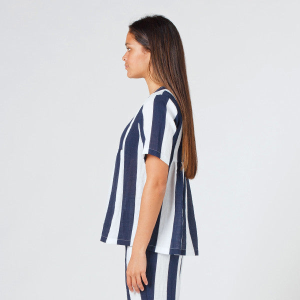 Lower Claudia Tee in Blue Stripe