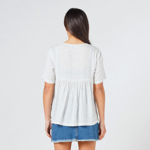 Lower Claudia Tee / Speckled White