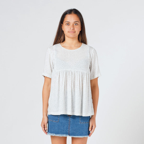 Lower Claudia Tee - Speckled White