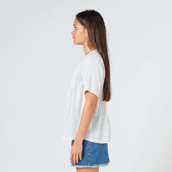 Lower Claudia Tee (Speckled White)