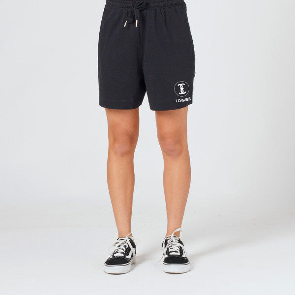Lower Dawn Shorts / Channel 3 (Embroidered) - Black