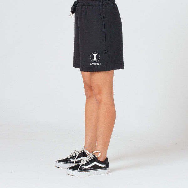 Lower Dawn Shorts / Channel 3 (Embroidered) in Black