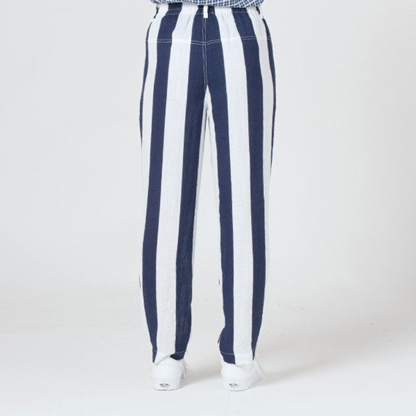 Lower Everyday Pant (Blue/White Stripe)