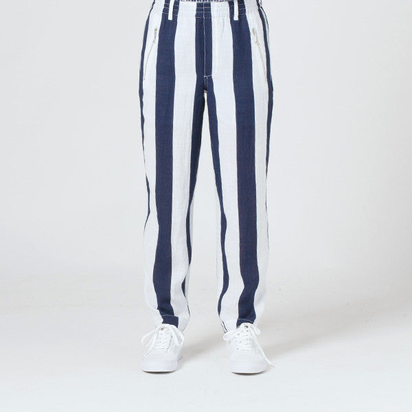 Lower Everyday Pant - Blue/White Stripe