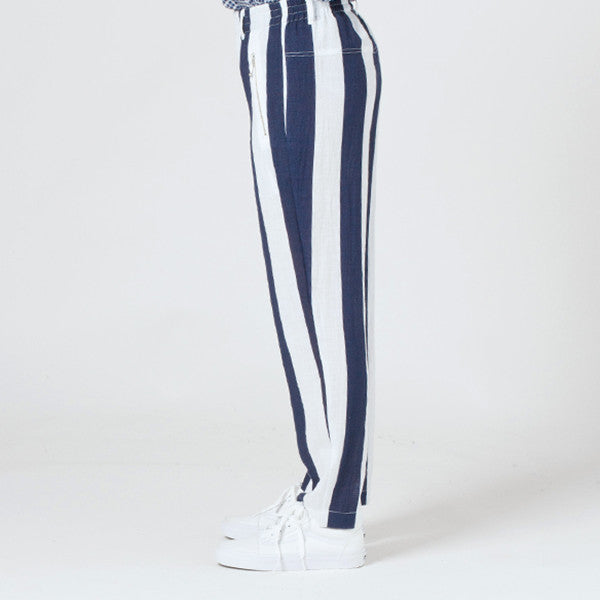 Lower Everyday Pant in Blue/White Stripe