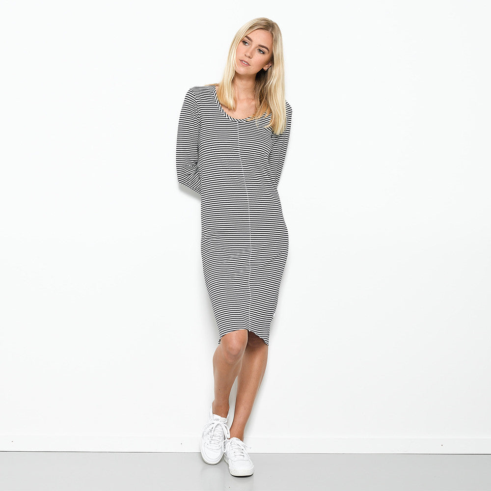 Five Each Centre Seam Shift Dress - Stripe