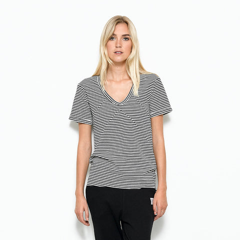 Five Each Panelled Tee - Stripe