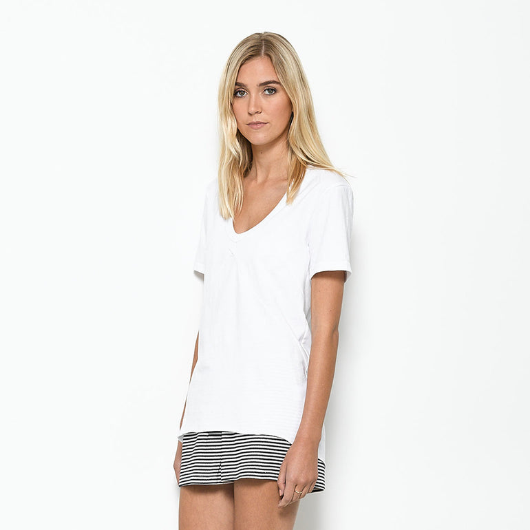 Five Each Panelled Tee - White