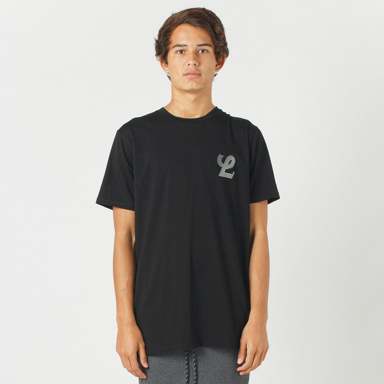 Lower Sport Field Tee / Blinds (reflective) - Black