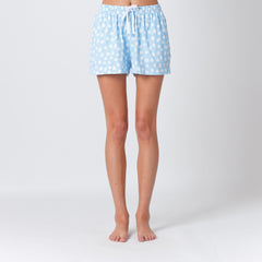 Five Each Relaxed Short - Blue Sketchy Dot