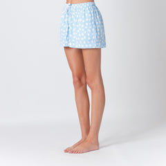 Five Each Relaxed Short in Blue Sketchy Dot