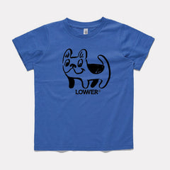 Lower Kids Tee / Frenchie - Blue