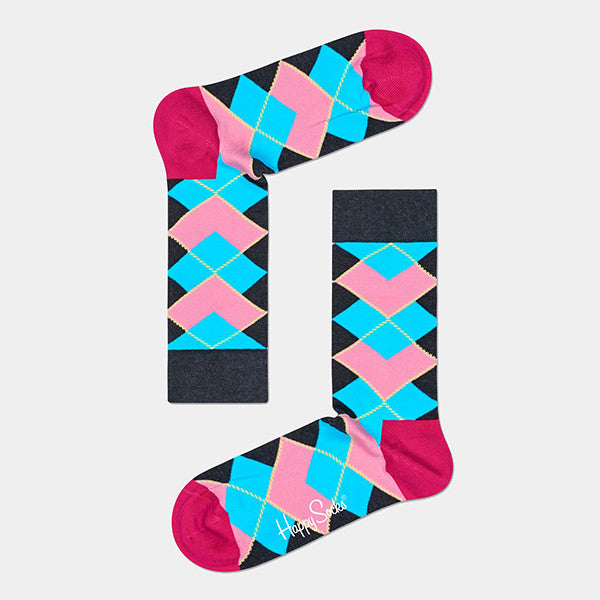 Happy Socks Iris Apfel Argyle Socks - Charcoal