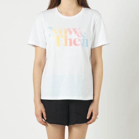 Now & Then Daily Tee Janet (Flocking) - White
