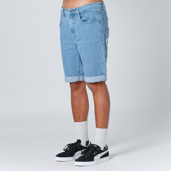 Lower Leaner Shorts in Lightwashed