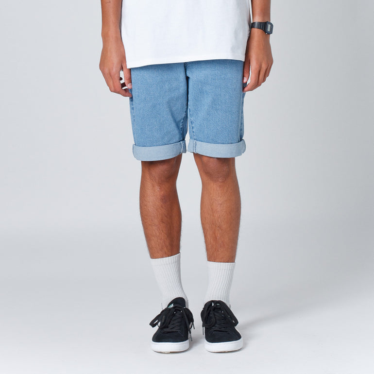Lower Leaner Mens Shorts - Lightwashed