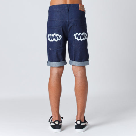 Lower Leaner Shorts - Indigo/White