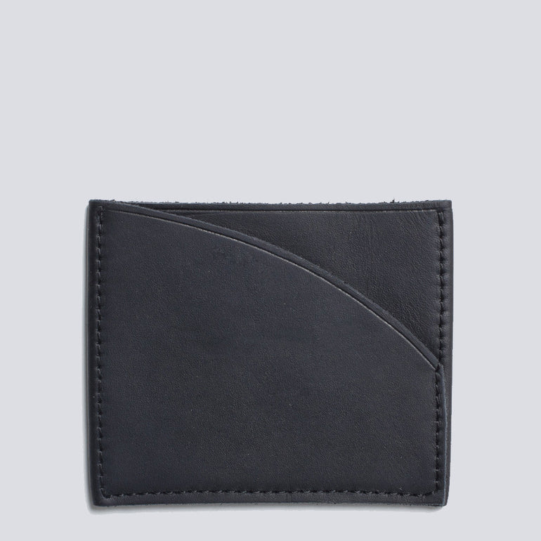 Lower Genuine Leather Slip Wallet Black