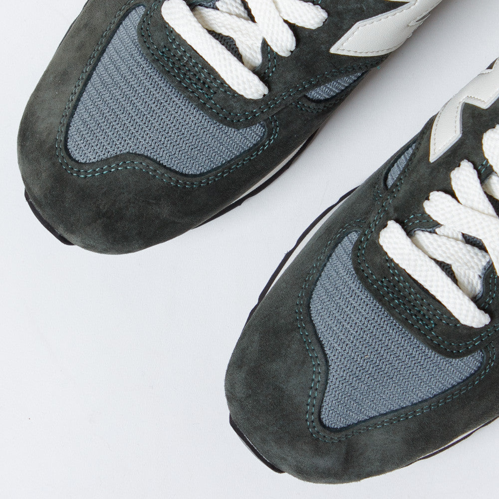 990 Heritage Sneakers in Grey/Green by New Balance