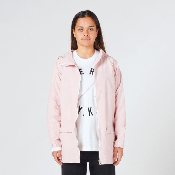 Lower Parker Jacket 'Channel 3' (Embroidered) - Pink