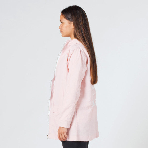Lower Parker Jacket 'Channel 3' (Embroidered) in Pink
