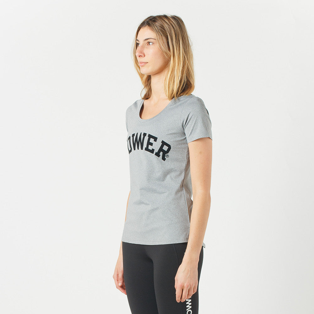 Lower Sport Action Tee / Arch Triple U (flocking) in Grey