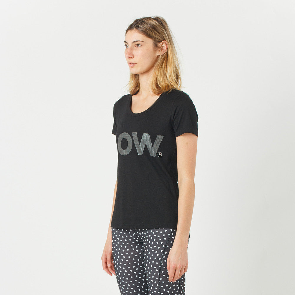 Lower Sport Action Tee / Low Dots (reflective) in Black