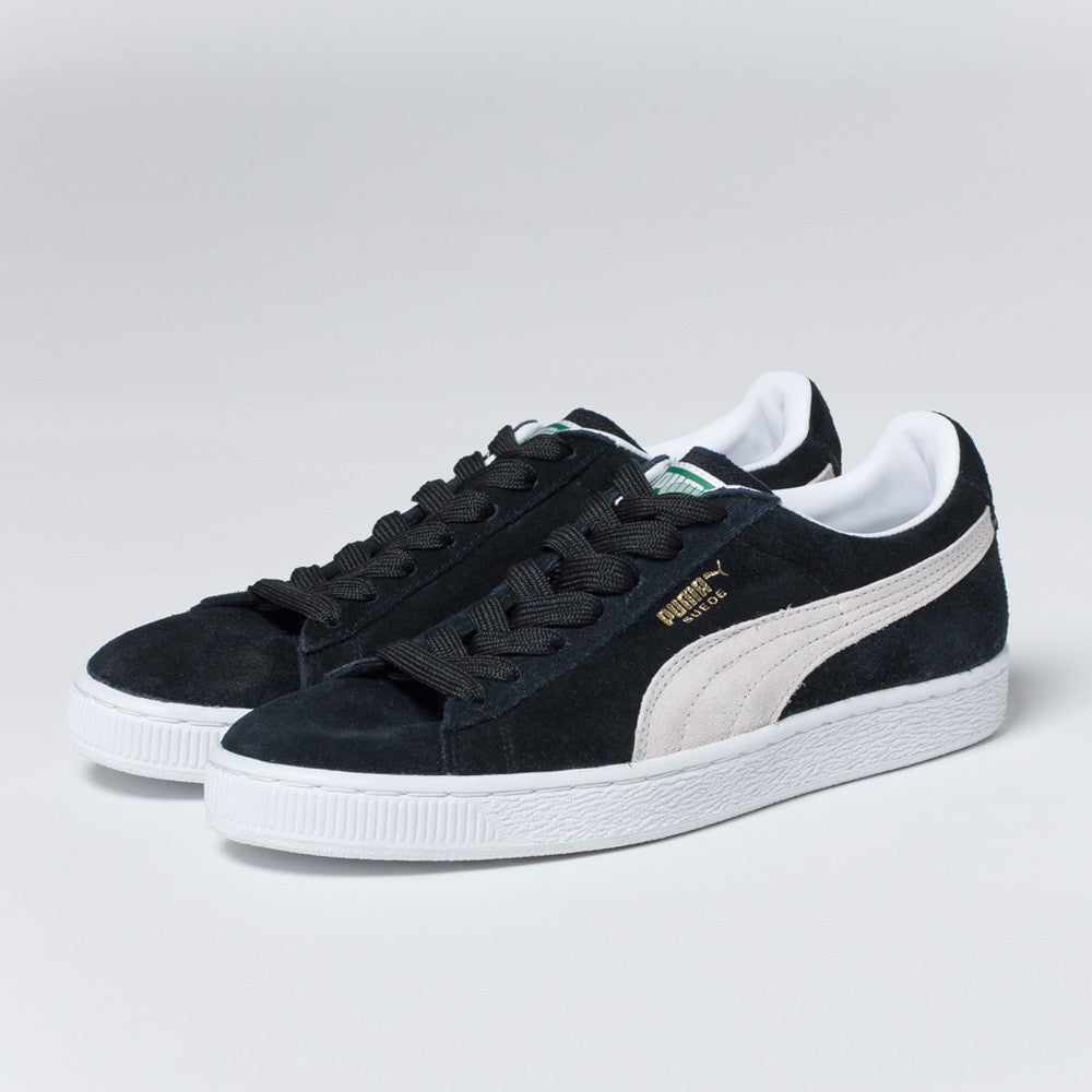 PUMA Suede Classic Shoes in Black and White
