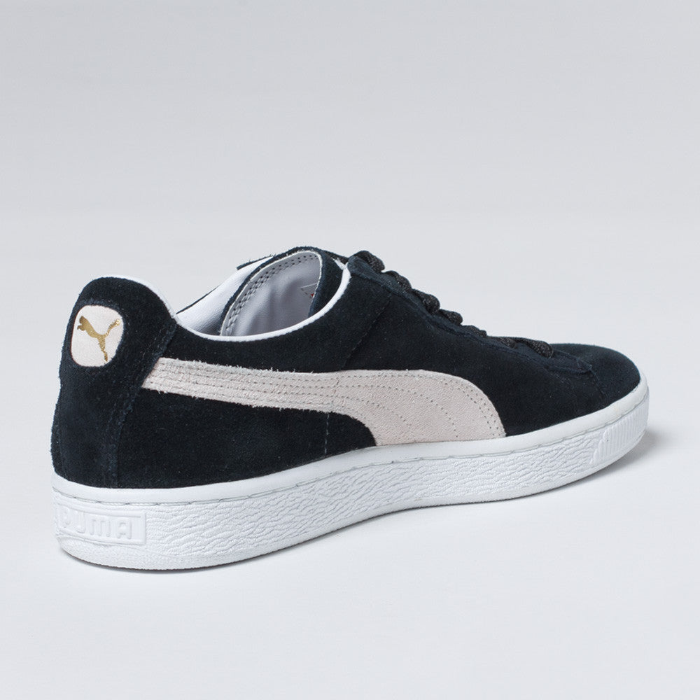 Puma suede black with white laces dress