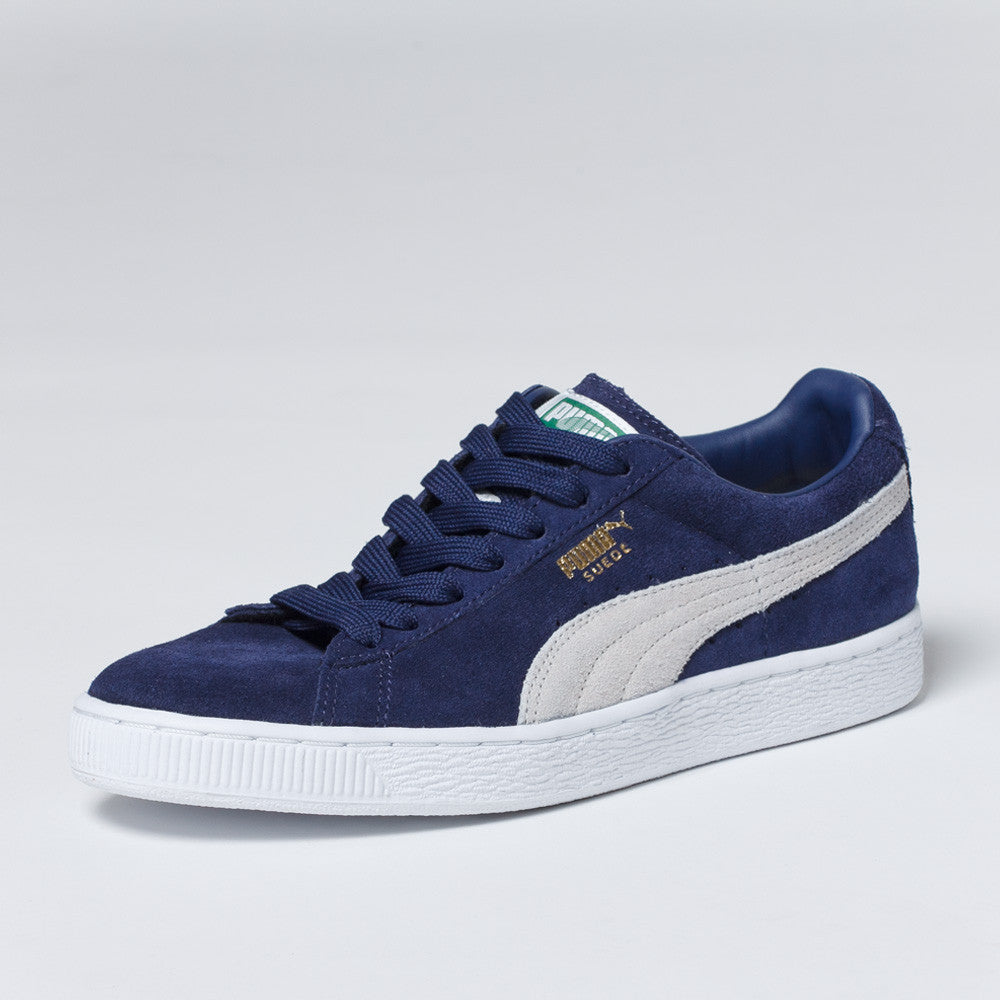 PUMA Suede Classic Shoes - Peacoat/White