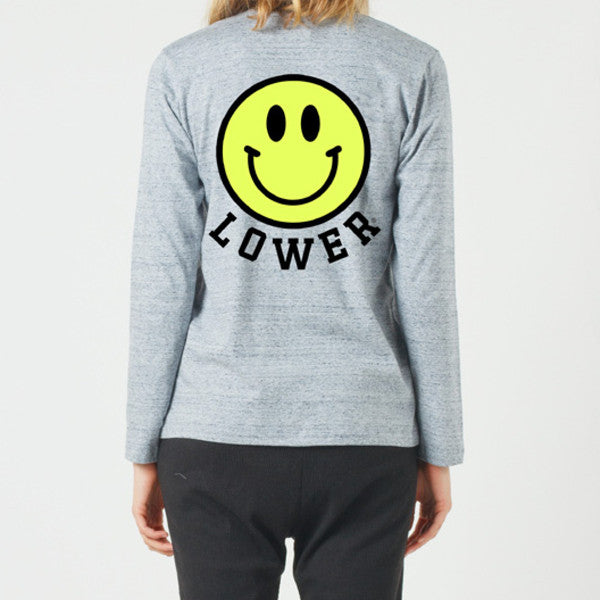 Lower Relax LS Tee / Don't Worry - Grey