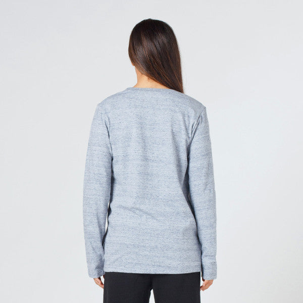 Lower Relax L/S Tee / Page (Puff) Grey Marle
