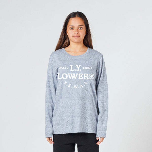 Lower Relax L/S Tee / Page (Puff) - Grey Marle