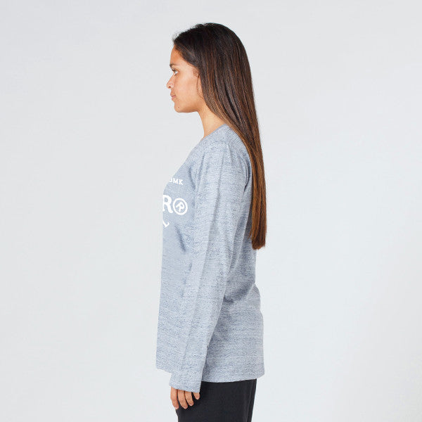 Lower Relax L/S Tee / Page (Puff) in Grey Marle
