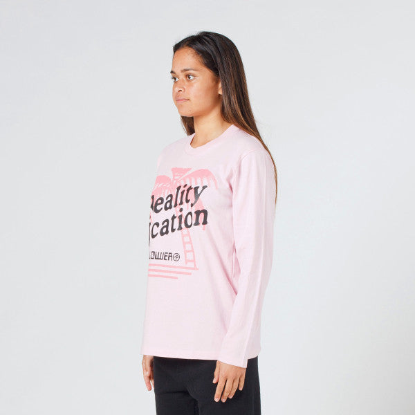 Lower Relax L/S Tee / Vacation in Pink