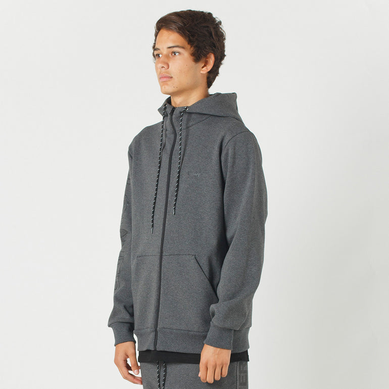 Lower Sport Sideline Zip Hood (reflective) in Dark Grey