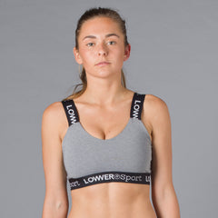 Sport V Front Sports Bra - Grey/Black