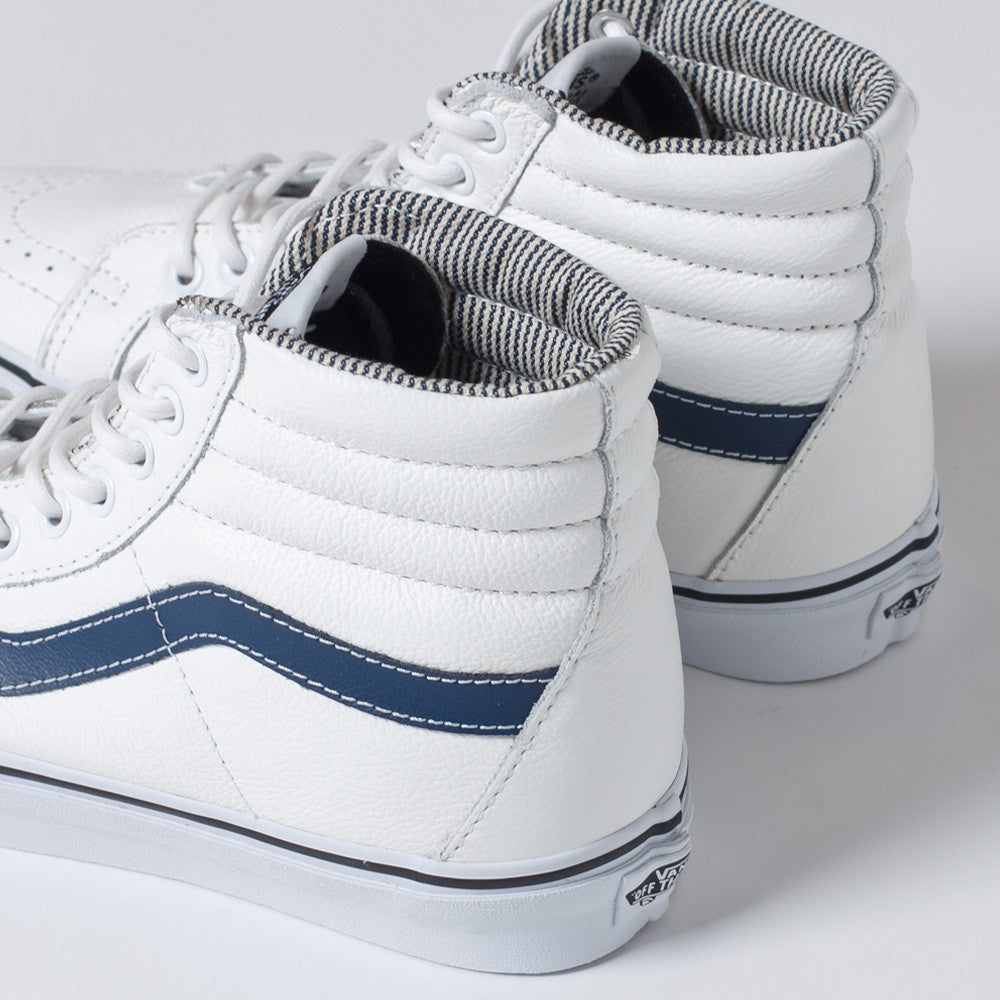 Vans Sk8-Hi Top Reissue White Leather Shoes
