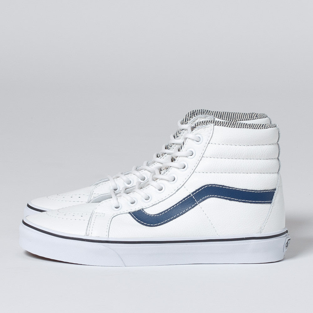 Vans Sk8-Hi Reissue Leather - White/Stripe